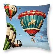 Balloons Away Throw Pillow