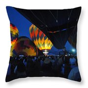 Balloons In The Crowd Throw Pillow