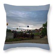 Balloons Over Lewiston Throw Pillow