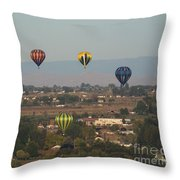 Balloons Over The Valley Throw Pillow