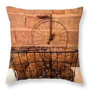 Balls In The Basket Throw Pillow