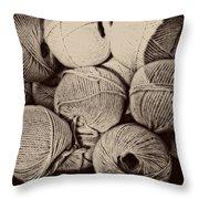 Balls Of String Throw Pillow