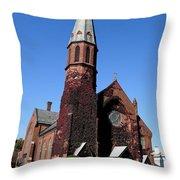 Ballston Spa Church Throw Pillow