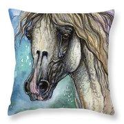 Balon Polish Arabian Horse Portrait 4 Throw Pillow