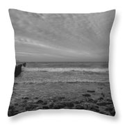 Baltic Sea And Clouds Throw Pillow