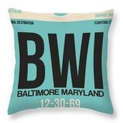 Baltimore Airport Poster 1 Throw Pillow