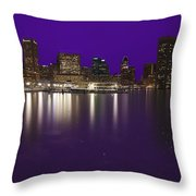 Baltimore Bleeds Purple Believe Throw Pillow
