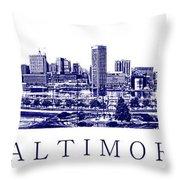 Baltimore Blueprint Throw Pillow