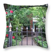 Baltimore Garden Throw Pillow