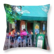 Baltimore - Happy Hour In Fells Point Throw Pillow