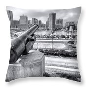 Baltimore Inner Harbor Skyline Throw Pillow