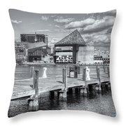 Baltimore Inner Harbor Skyline Vi Throw Pillow