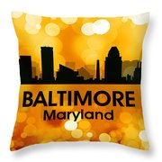 Baltimore Md 3 Throw Pillow