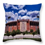 Baltimore Memorial Stadium 1960s Throw Pillow