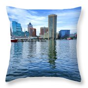 Baltimore On The Water Throw Pillow