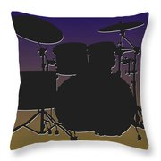 Baltimore Ravens Drum Set Throw Pillow
