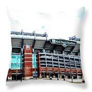 Baltimore Ravens - M And T Bank Stadium Throw Pillow