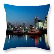 Baltimore Skyline At Dusk Throw Pillow