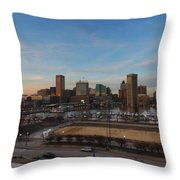 Baltimore Skyline At Sunset From Federal Hill Throw Pillow