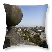 Balustrade And Views From The Westerkerk In Amsterdam Netherlands Throw Pillow