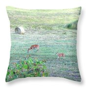 Bambi And The Twins  Throw Pillow