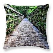 Bamboo Forest Bridge Throw Pillow