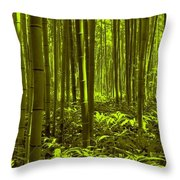 Bamboo Forest Twilight  Throw Pillow