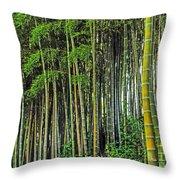 Bamboo Hill Throw Pillow