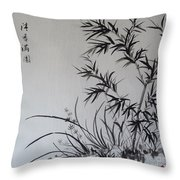 Bamboo Impression Throw Pillow