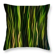 Bamboo In Motion Throw Pillow
