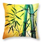 Bamboo Magic Throw Pillow by Nirdesha Munasinghe