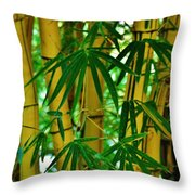 Bamboo Of Hawaii Throw Pillow