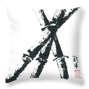 Bamboo On South Indian Paper Throw Pillow