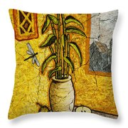 Bamboo Throw Pillow by Sergey Khreschatov