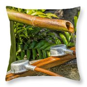 Bamboo Spout Throw Pillow