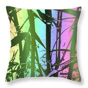 Bamboo Study 8 Throw Pillow