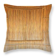 Bamboo Wall And Shutters Throw Pillow