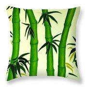 Bamboos Throw Pillow