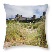 Bamburgh Castle From The Dunes Throw Pillow
