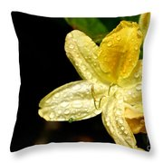 Banana Azalea  Throw Pillow