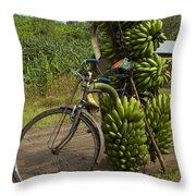 Banana Bike Throw Pillow