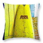 Banana Board Throw Pillow