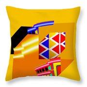 Banana Boat Throw Pillow by Charles Stuart