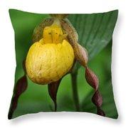 Banana Curls Throw Pillow