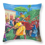 Banana Delivery In Cameroon 01 Throw Pillow