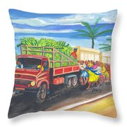 Banana Delivery In Cameroon 02 Throw Pillow