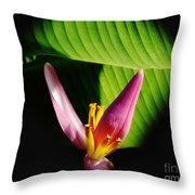 Banana Flower Throw Pillow