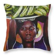 Banana Hawker Throw Pillow