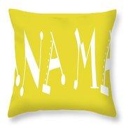 Banana Manna - Yellow - Color - Letter Art Throw Pillow