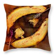 Bananas Pop Art Throw Pillow